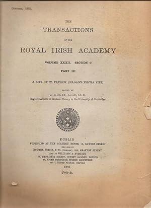 A Life of St. Patrick (Colgan's Tertia Vita).The Transactions of the Royal Irish Academy. ...
