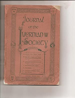 Journal of the Ivernian Society. Vol. V.January -March, 1913.