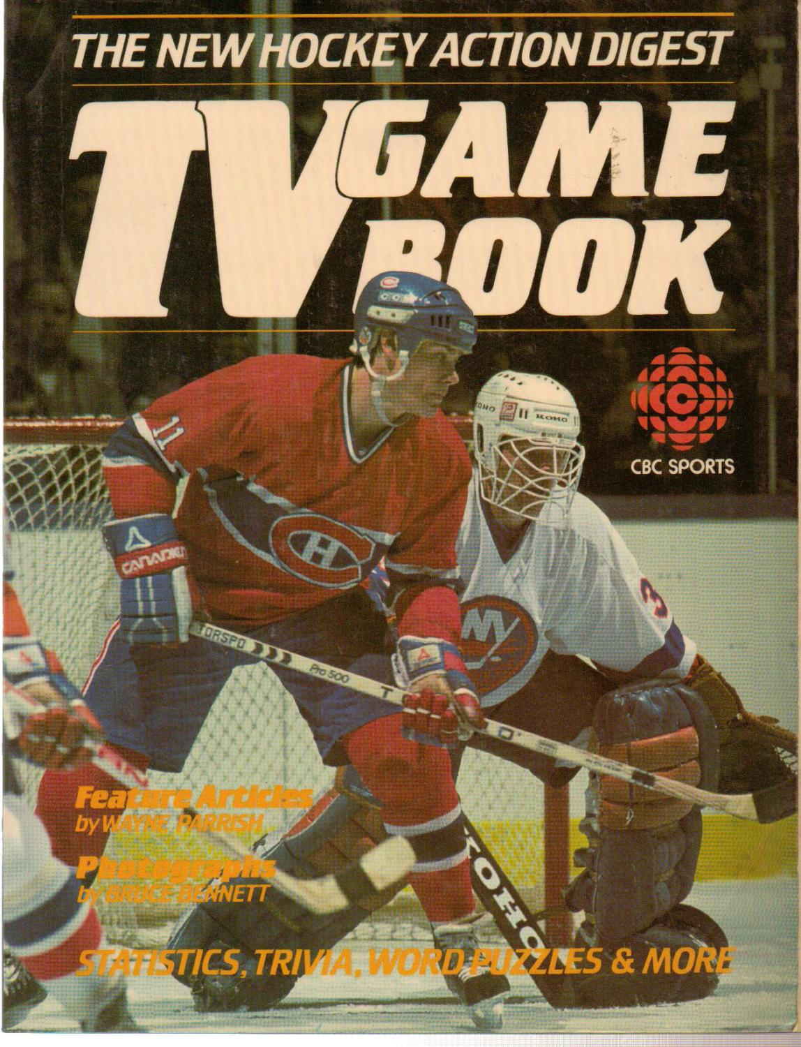The New Hockey Action Digest Tv Game Book Cbc Sports 1984 F