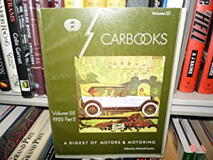 Carbooks A Digest Of Motors & Motoring Volume 22 1922 Part 2