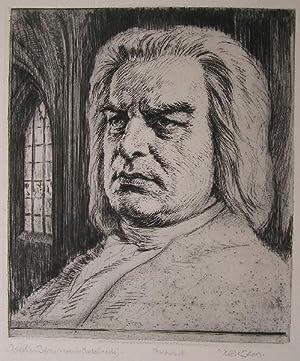 Johann Sebastian Bach. Porträt (nach der Gesichtsmaske).: Bach, Johann Sebastian.