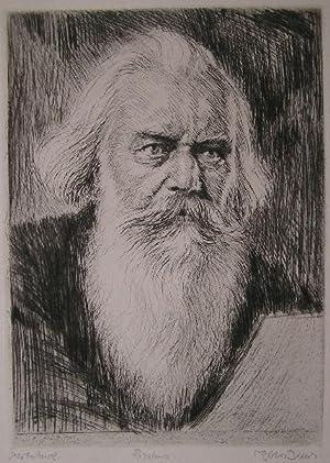 Brahms. Porträt.: Brahms, johannes. Bauer,