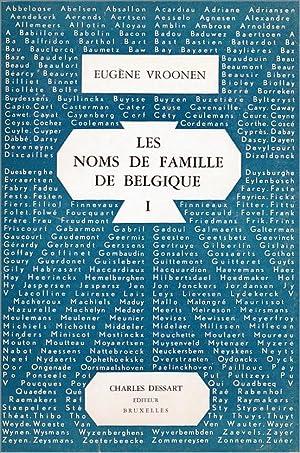 Essai d'anthroponymie belge. Les Noms de famille: VROONEN (Eugène).