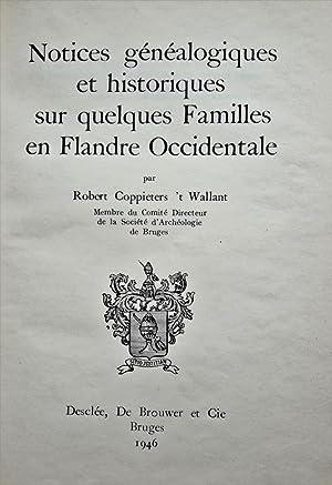 Notices généalogiques et historiques sur quelques familles: COPPIETERS 't WALLANT