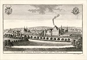 Vue de la ville et Chateau de: LE LOUP (Remacle).