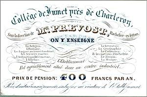 Collège de Jumet près de Charleroy »,: Carte porcelaine illustrée]