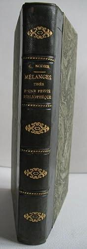 Mélanges tirés d'une petite bibliothèque, ou variétés: NODIER (Charles).