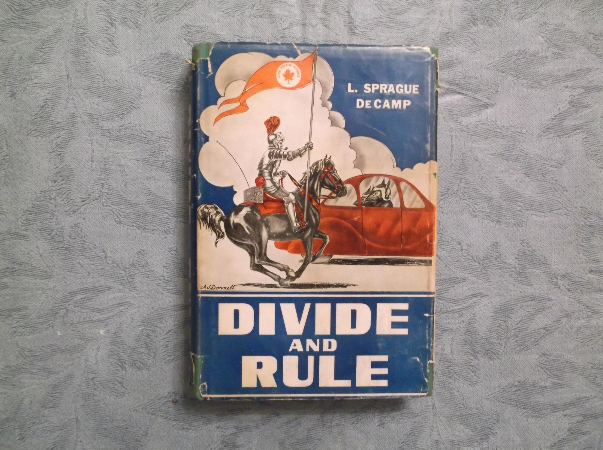 Divide_and_Rule_Signed_De_Camp_L_Sprague_Assez_bon_Couverture_rigide