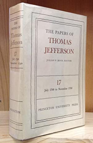 The Papers of Thomas Jefferson: Volume 17, 6 July to 3 November 1790