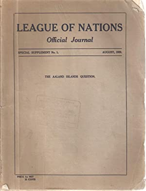 League of Nations Official Journal / Societe des Nations Journal Officiel Special Supplement ...