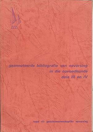 Geannoteerde Bibliografie van Navorsing in die Opvoedkunde, dele III en IV: Coetzee, J C