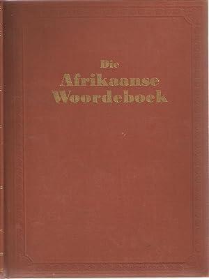 """Die Afrikaanse Woordeboek Deel III """"G"""": Schoones, P C (ed)"""