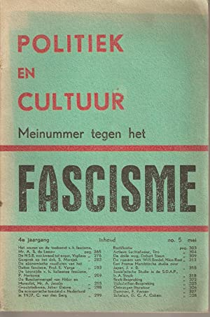 Politiek en Cultuur Mei 1938