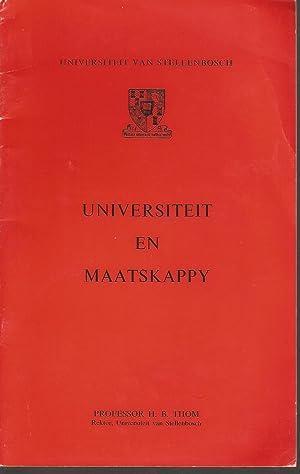 Universiteit en Maatskappy: Thom, Prof H B