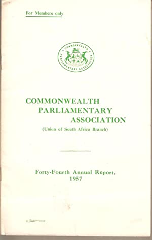 Commonwealth Parliamentary Association (Union of South Africa Branch) / Parlementere ...
