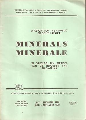 Statistical and Other Data on Minerals / Statistieke en Ander Inligting oor Minerale July - ...