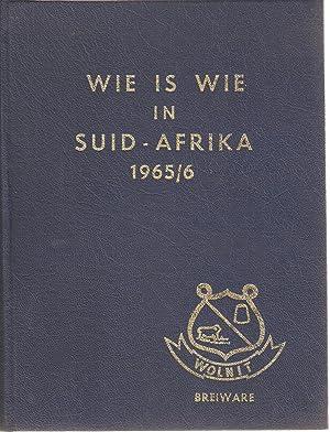 Wie is Wie in Suid-Afrika 1965 / 1966