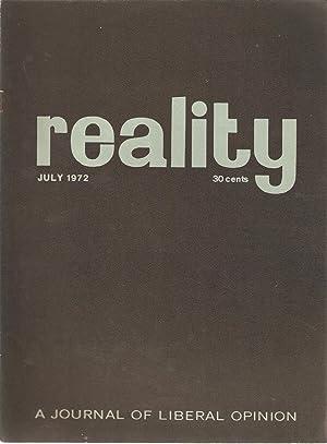 Reality - A Journal of Liberal Opinion July 1972: Alan Paton (ed)