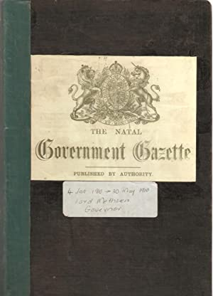 The Natal Government Gazette 4 Jan 1910 - 30 May 1910