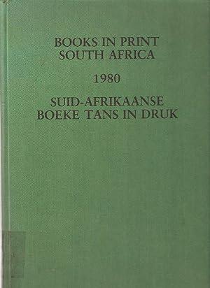 Books in Print South Africa 1980 Suid-Afrikaanse Boeke Tans in Druk