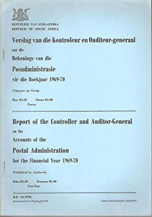 Report of the Controller and Auditor-General on the Accounts of the Postal Administration for the ...