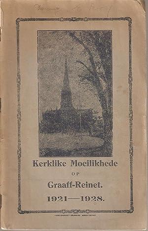 Kerklike Moeilikhede op Graaff-Reinet 1921-1928: Anon.