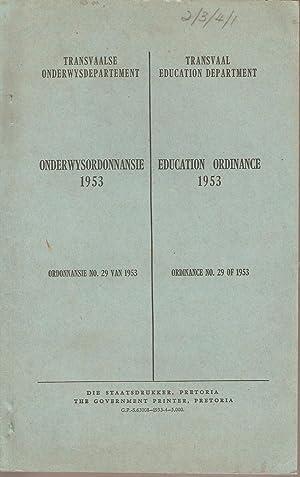 Ordonnansie van die Provinsie Transvaal 1953 Ordinance of the Province of Transvaal (...