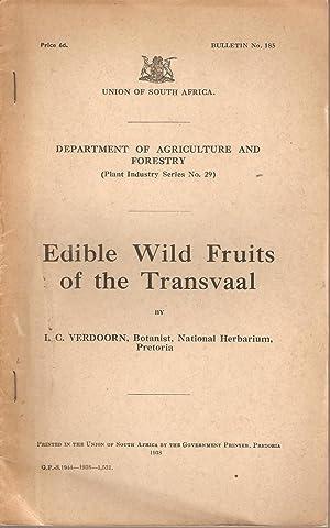 Edible Wild Fruits of the Transvaal: Verdoorn, I C