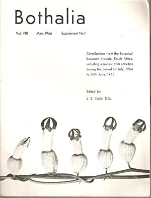 Bothalia Vol. VIII Supplement No. 1 May 1966: Codd, L E (ed)