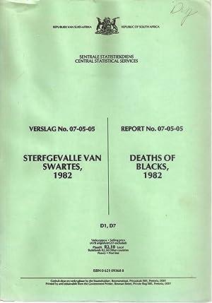 Sterfgevalle van Swartes /Deaths of Blacks 1982