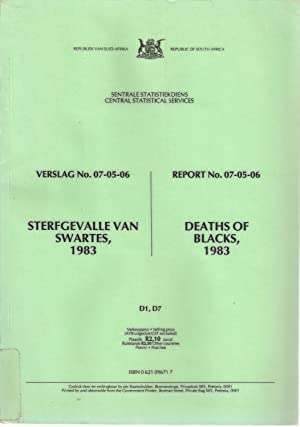 Sterfgevalle van Swartes / Deaths of Blacks 1983
