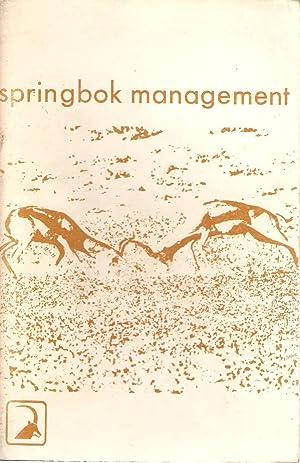 Springbok Management / Springbokbestuur: Bigalke, R C; Liversidge, R and Schijf, J