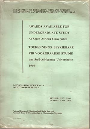 Awards available for undergraduate study at South African universities / Toekennings ...