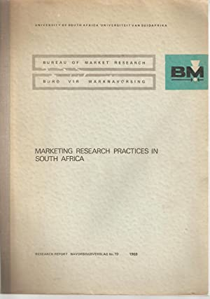 Marketing Research Practices in South Africa: Wijnholds, H J A de B