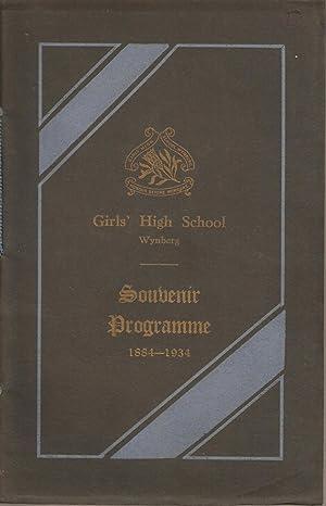 Girls' High School Wynberg Souvenir Programme 1884-1934