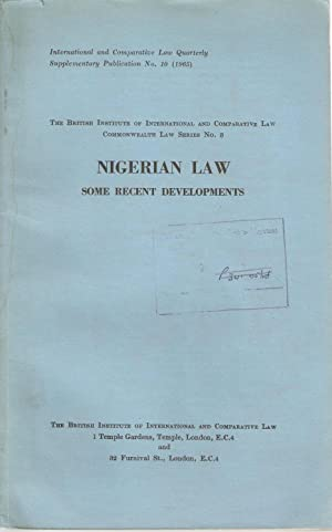 Nigerian Law - Some recent developments
