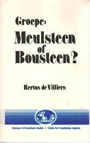 Groepe: Meulsteen of Bousteen? - 'n Regsvergelykende oorsig van state se pogings om groepe te ...