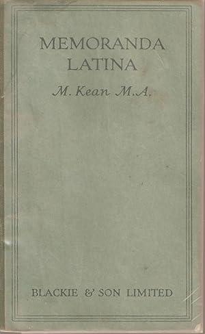 Memoranda Latina: Kean, M