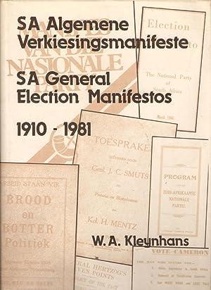 Suid-Afrikaanse Algemene Verkiesingsmanifeste / South African General: Kleynhans, W A
