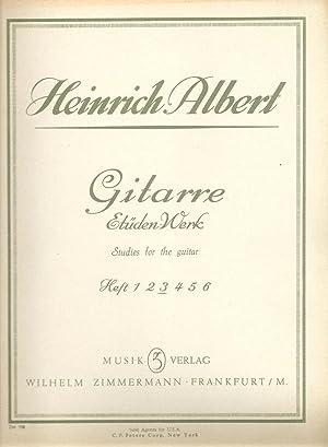 Gitarre, Etuden Werk Heft 3 / Studies for Guitar (Book 3 Moderately Difficult Studies ): ...