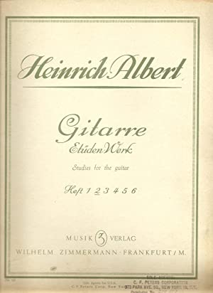 Gitarre, Etuden Werk Heft 2 / Studies for Guitar (Book 2 Elementary Grade): Albert, Heinrich