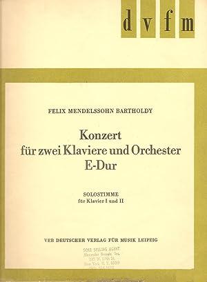 Konzert für Zwei Klaviere und Orchester E-Dur Solostimme Für Klavier I und II: ...