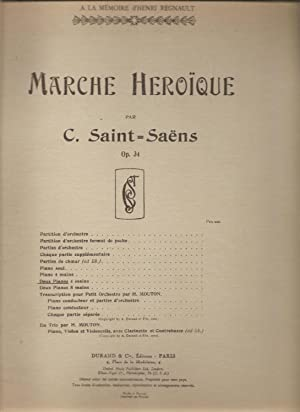 Marche Heroique Op. 34 Pour Duex Pianos 4 Mains / Heroic Marche Op. 34 for Two Pianos 4 Hands: ...
