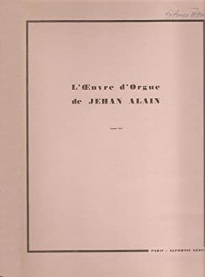L'Oeuvre D'orgue Tome III: Alain, Jehan
