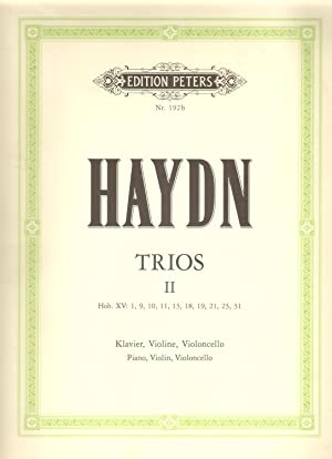 Trios II Hob. XV: 1, 9 ,10,11,13, 18, 21, 23, 31 for Piano Violin & Cello