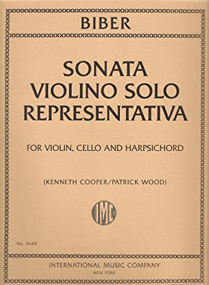 Biber Sonata Violino Solo Representativa For Violin, Cello and Harpsichord