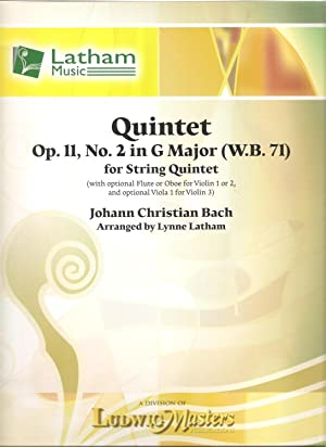 Quintet Op. 11, No. 2 in G Major (W.B. 71) for String Quintet