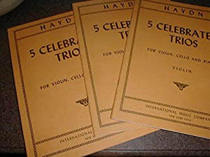 Haydn Five Celebrated Piano Trios for Violin, Cello, and Piano