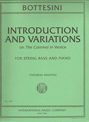 Introduction and Variations on the Carnival in Venice, for String Bass and Piano