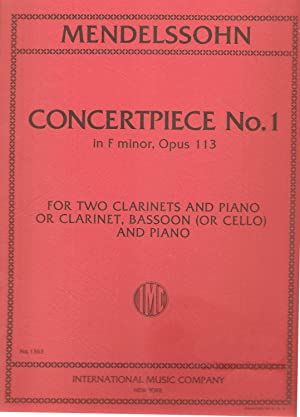 Concertpiece No.1 in F Minor, Op.113 for Clarinet, Bassoon and Piano or Clarinet, Basoon (or Cell...